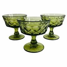 3 Vintage Noritake Perspective Green Champagne Glass Tall Sherbert Thumb... - $14.80