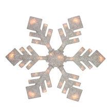 "40"" Lighted Winter White Snowflake Christmas Yard Decor - $107.95"