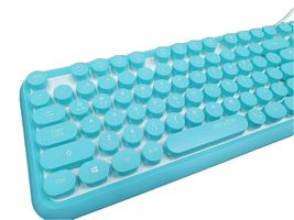 iRiver Korean English Keyboard USB Wired Membrane Bubble Keyboard for PC (Blue) image 4