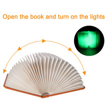sanyi Leather Foldable LED USB Rechargeable Luminaria Book Nightlight Bo... - $35.95