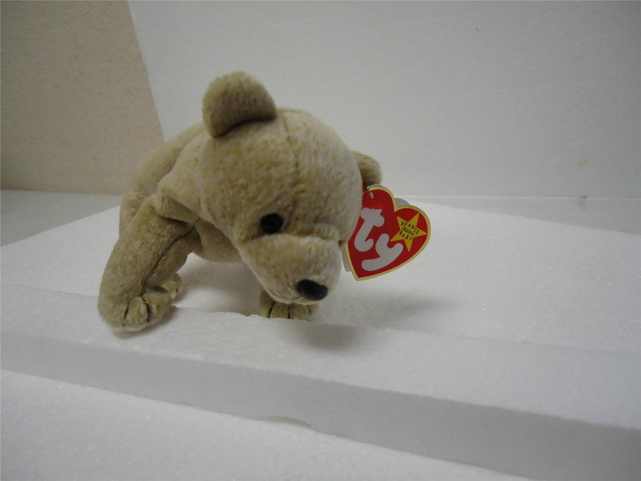 Ty Beanie Baby Original 1999 Almond the Bear with Tags