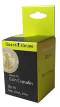 Direct Fit Air Tight Coin Capsules, 1/2 oz Gold Eagle by Guardhouse 27mm... - $7.49