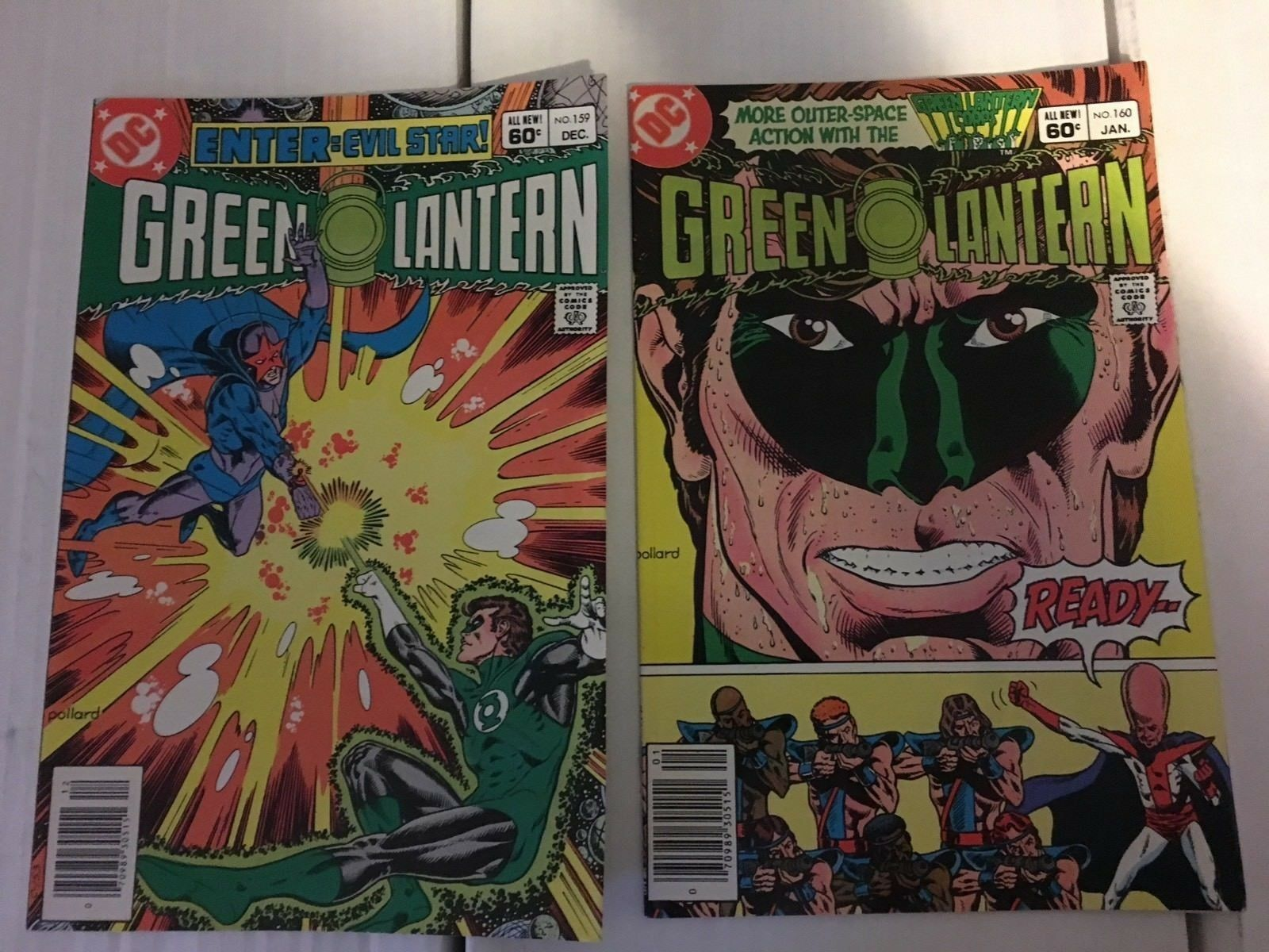 GREEN LANTERN 157 158 159 160 162 DC Comic Book Lot / Run VF Condition 1982