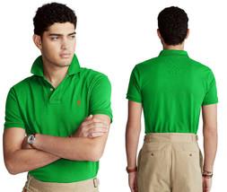 Polo Ralph Lauren Men's Big & Tall Mesh Polo Shirt Green Size 3LT - $64.34