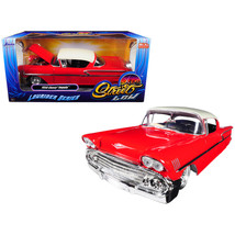 1958 Chevrolet Impala Red Lowrider Series Street Low 1/24 Diecast Model ... - $37.75