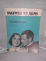 VTG Sheet Music - Farewell to Arms Allie Wrubel & Abner Silver 1933 Haye... - $7.92