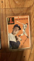 1954 Topps Ted Williams Boston Red Sox #1 Baseball Card - $999.00