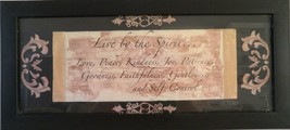 Wall Art Scripture Live By the Spirit Love Peace Kindness... Debbie Dewi... - $19.34