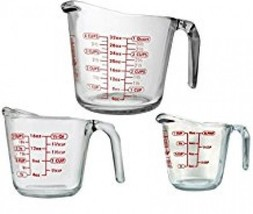 3-Piece Measuring Cup Set Food Prep Cookware Bakeware Tools Kitchen Dining - £25.50 GBP
