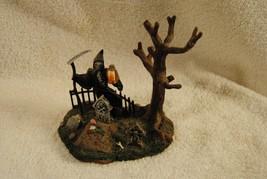 Rare Lemax Spooky Town Halloween Rest In Peace 63555 Grim Reaper Graveyard - $29.99