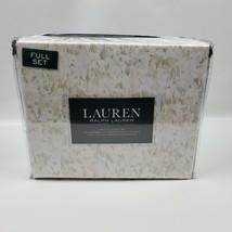 Lauren Ralph Lauren 4 PC Watercolor Floral Soft Pastel Cotton Full Sheet... - $75.95