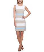 Tommy Hilfiger Striped Scuba Sheath Dress, Multi, 14 - $49.01