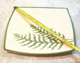 VINTAGE FERN PATTERN SQUARE SERVING PLATE MANCER MADE IN ITALY HAND PAINTED image 4