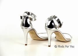 c386d2c5dfa J Crew Mirror Metallic High Heel Sandals 6 A0389 Metallic Silver Womens ...  -