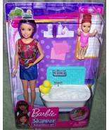 Barbie Skipper BABYSITTERS INC Doll and Toddler & Bathtub Playset New - $15.35