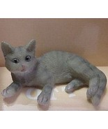 Dollhouse Pet Cat Grey Heidi Ott lying feet out HOXZ560gr Miniature - $11.15