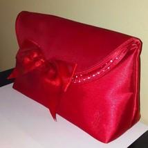 YVES SAINT LAURENT PARFUMS RED SATIN CLUTCH - $10.36