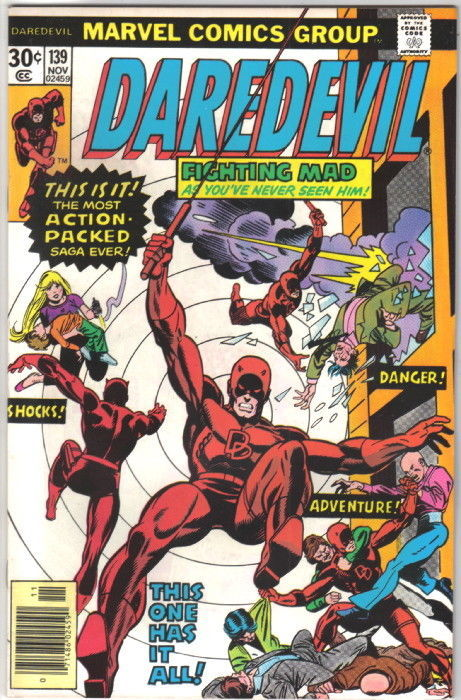Daredevil Comic Book #139 Marvel Comics 1976 VERY FINE