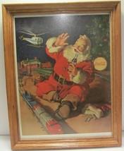Coca Cola Vintage Santa Claus Advertising Picture Magazine Parliament Ci... - $24.95