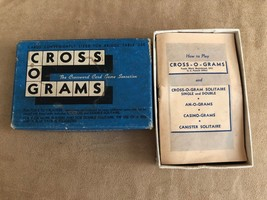 Vintage cross o grams card game in box mid century  - $19.50
