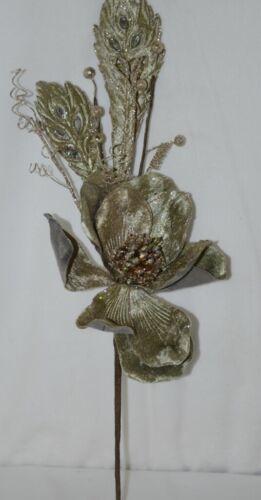 Regency International MTX44552 Sage Velvet Magnolia Acanthus Leaf Stem