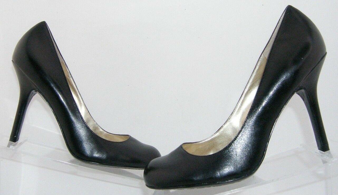 Jessica Simpson 'Henri' black leather patent round toe slip on heels 9.5B 6348 image 2