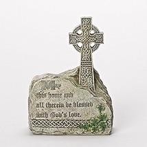 Joseph Studio Bless This Home Celtic Cross in Rock Outdoor Garden Statue... - $38.03