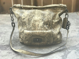 Authentic Tan COACH 15361 KRISTIN EMBOSSED Snak... - $156.42