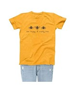 Rocksir Women bee Happy & Cruelty-Free Save The Bees Theme Lovely Summer... - $15.09