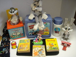 Fun Vintage Bugs Bunny Collection  Lunch Box Thermos Plush Toys Books an... - $64.80
