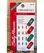 SALLY HANSEN Ornametals Nail Art Decals Stickers 1 Sheet 4011M CHRISTMAS... - $8.88