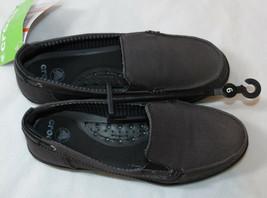 Mujer Crocs standard fit Walu Lona Mocasín Deslizar Zapato W 6 Barco Tono Modelo - $29.38