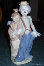 """Lladro """"Pals Forever"""" Clown With Puppy Dogs Figurine #7686 Cute Collectible GIft - $191.48"""