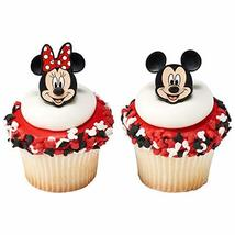 24 Mickey and Minnie Mouse Cupcake Rings Toppers - $11.82