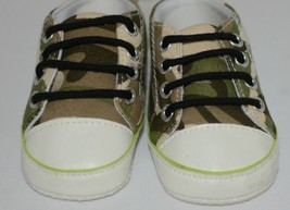 Ganz Ella Jackson Green Camo Infant Booties Shoes Size 0 to 12 Months image 2