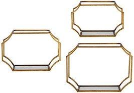 3-Pc Wall Shelf Set in Gold - $217.80