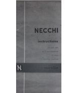 Necchi Mirella sewing machine use care maintenance ENLARGED - $10.99