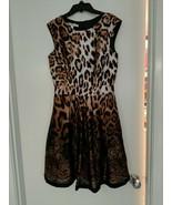 Boston Proper Holiday Special Occasion Animal Leopard Print Dress Sz 6 - $24.70