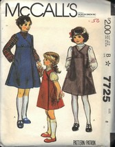 McCALL'S PATTERN 7725 DATED 1981 SIZE 8 GIRL'S JUMPER & BLOUSE UNCUT - $3.90