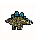 Cartoon Dinosaur Shape Sequin Clothes Sewing Patch Set Of 2 - $14.86