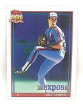 1991 Topps Baseball Card #649 - Bill Sampen - Montreal Expos - Pitcher - $0.99