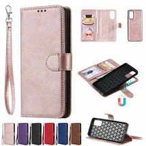 F Samsung S20 Ultra S10 S9 S8 Plus Magnetic Removable Leather Wallet Case Cover - $64.83