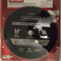 "Craftsman 17544  12"" x 96T Fine Finishing Carbide Saw Blade Thin Kerf Germany - $31.68"