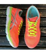 Asics Running Shoes T583N Athletic Sneaker Neon Orange Coral Mesh Women ... - $39.59