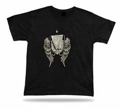 Angel Wings Shield Protection Symbolism tee shirt birthday present gift stylish - $7.57