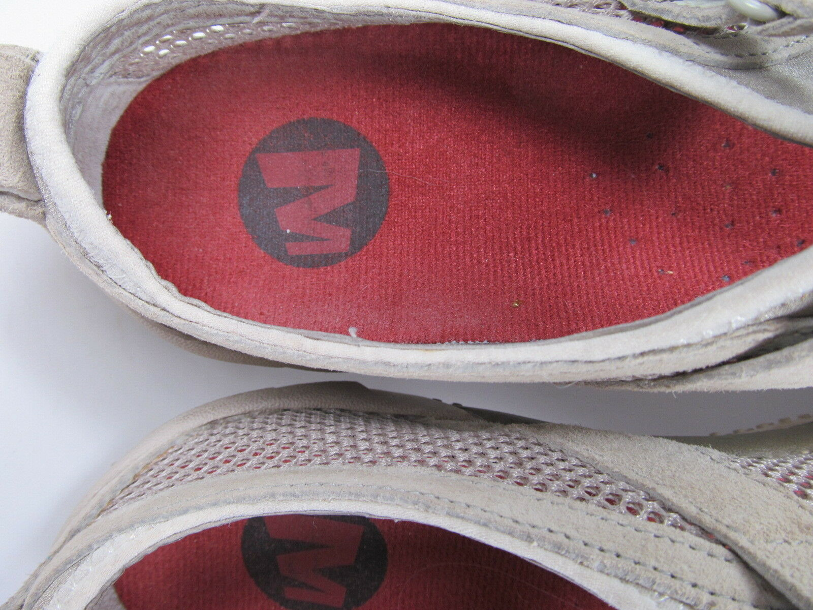 Merrell Taupe Womens Mesh Shoes Size 7.5 M Grey Suede Mary Jane Shoes image 7