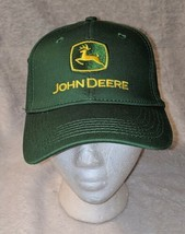 John Deere LP16930 Green Adjustable BaseBall Cap With Leaping Deer Logo image 2