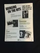 """Vtg 9""""x12"""" RICHARD MARX Hand Signed Autograph Hold On to the Nights Sheet Music image 3"""