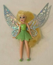 """Disney Fairies Tinkerbell Doll with Fairy Wings Silver Flutter Green Outfit 4.5"""" - $9.99"""