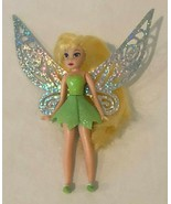 Disney Fairies Tinkerbell Doll with Fairy Wings Silver Flutter Green Out... - $9.99